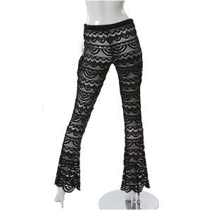 f36b2a0c0dc Miken Swim | Black Crochet Suit Cover Up Pants Nwt | Poshmark